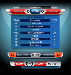 Scoreboard sport design vector