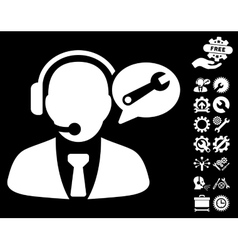 Service Manager Message Icon with Tools vector