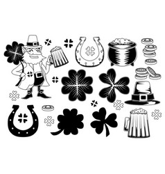 set st patricks elements vector image
