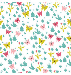simple seamless pattern with butterflies vector image