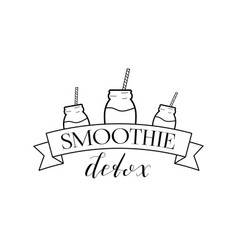 smoothie detox logo isolated vector image