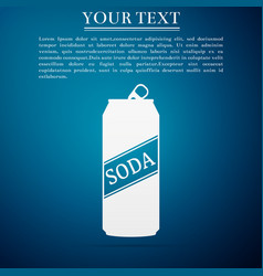 soda can icon isolated on blue background vector image