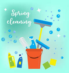 spring cleaning concept flat style vector image