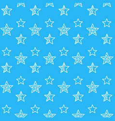 stars and polygon shapes thin line signs seamless vector image