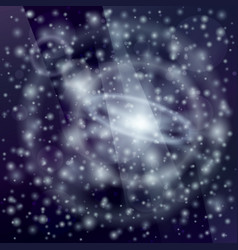 stars with satellites in universe vector image