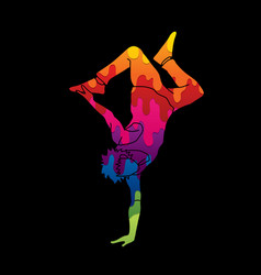 Street dance b boys dance dancing action vector