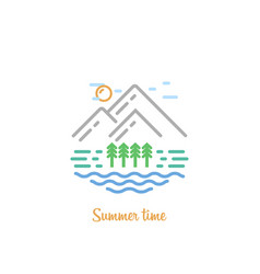 summer time for sammer day in fine style vector image
