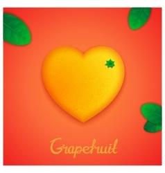 Sweet grapefruit vector