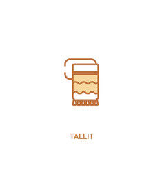 Tallit concept 2 colored icon simple line element vector