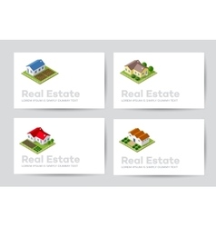 templates business cards vector image