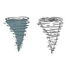 Tornado on a white background vector