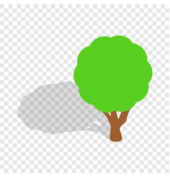 tree isometric icon vector image vector image
