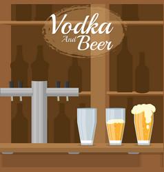 Vodka and beer vector