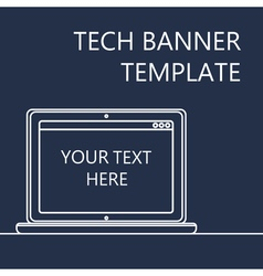 Web Banner with Notebook vector