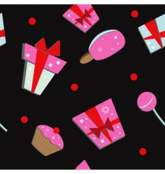 gift boxes and sweets vector image