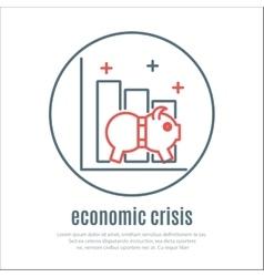 icon on a theme of economic crisis vector image
