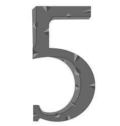 Numeral five vector image