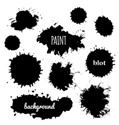 paint splash set of brush strokes vector image vector image