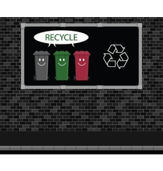 Recycle advertising board vector image vector image