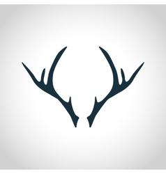 Deer antler silhouette vector image