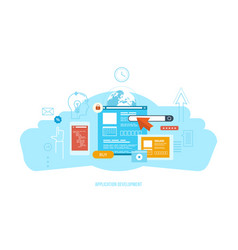 development software technology communication vector image