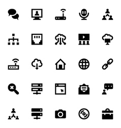 Internet Networking and Communication Icons 4 vector image vector image