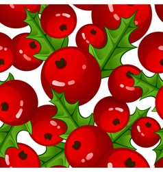 Seamless background with berries and vector image vector image