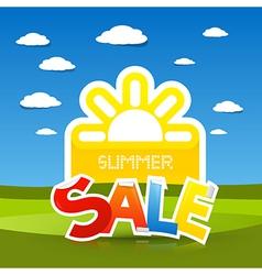 Summer sale title vector
