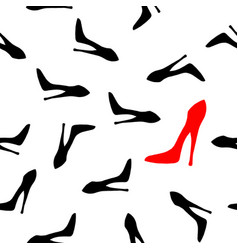 woman shoe pattern vector image