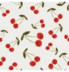 Autumn cherries pattern vector image vector image