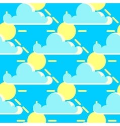 clouds and the sun good weather seamless vector image