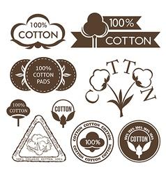Cotton decoration elements vector image vector image