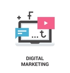 digital marketing icon vector image vector image