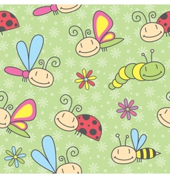 insects pattern vector image