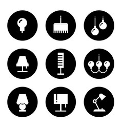 lighting flat icons - lamps sconce and floor vector image vector image