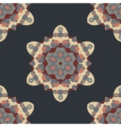 Seamless brown Abstract Retro Ornate Mandala vector image vector image