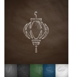 sky lattern icon Hand drawn vector image