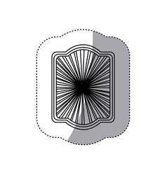art deco pattern icon vector image