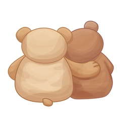 bears back vector image