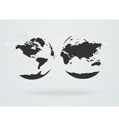 Black map of the world vector image