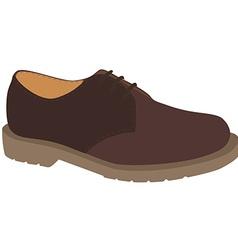 Brown shoe vector image