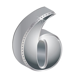 Glamorous diamond number vector image