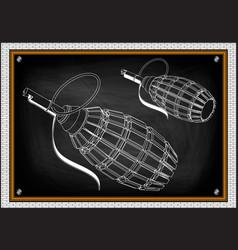 grenade on a black vector image