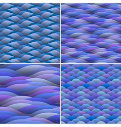 Seamless background of abstract waves vector image vector image