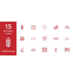 15 warehouse icons vector