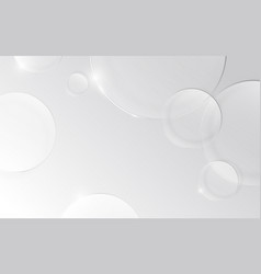 abstract circles glass on white background vector image
