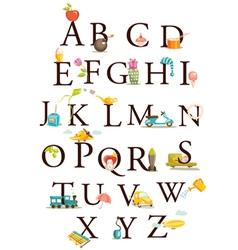 alphabet chart vector image