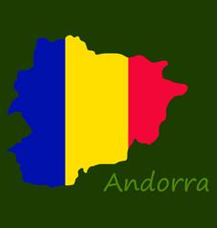 Andorra map flag isolated vector