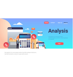 Arabic business people graph finance analysis vector