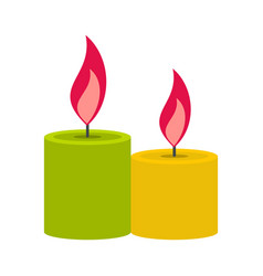 Aromatic candles icon flat style vector